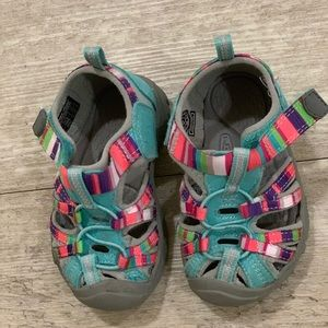 Keen teal baby sandals